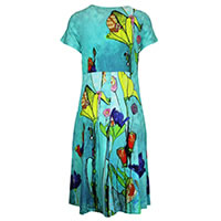 ROBE CHRIS TURQUOISE MULTI - Dolcezza