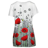 TOP POPPIE BLANC MULTI - Dolcezza