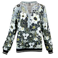 TOP VIGO FLOWERS GREY - Dolcezza