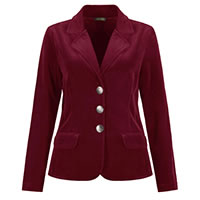 VESTE DANDY VELOURS ROUGE - Dolcezza
