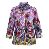 VESTE LINDA PURPLE MULTI - Dolcezza