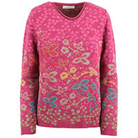 PULL JACQUARD VISBY FRAMBOISE - Dunque