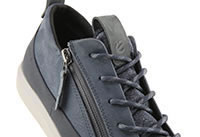SOFT 7 TRED ZIP BLUE - Ecco