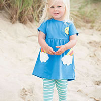 ENSEMBLE BLUE RAINBOW - Frugi