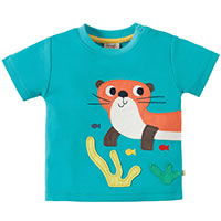 LOUTRA TURQUOISE TSHIRT - Frugi