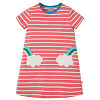 RED STRIPES DRESS - Frugi