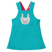 ROBE REVERSIBLE BUNNY BLUE - Frugi