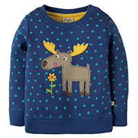 SWEAT DOTTY MOOSY BLUE - Frugi