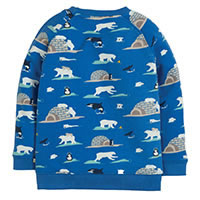 SWEAT POLE NORD BLEU - Frugi