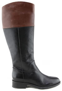 RESIA BOTTE BLACK BROWN - Geox