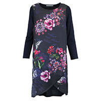ROBE KIMBY BLUE FLORAL - Kalisson