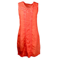 ROBE KOLOMBINE LIN ORANGE - Kalisson