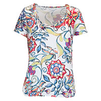 TOP KALEIDO MULTI FLORAL - Kalisson
