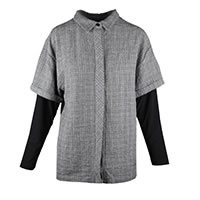 CHEMISE JUICY CHECK GREY BLACK - Kokomarina