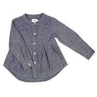 BLOUSE DIZZIE LIGHT DENIM - Ozmoz