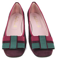 ODALISQUE DAIM BORDEAUX - Pretty Ballerinas