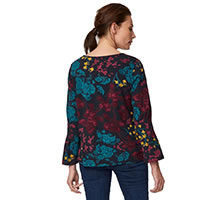 AGENTHA TOP NAVY FLORAL - Thought