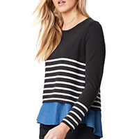 CARTHA TOP STRIPES - Thought