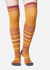 ESANA SOCKS MUSTARD - Thought