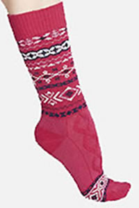 ESTELLE WOOL SOCKS RUBY - Thought
