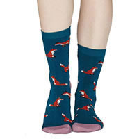 FOXY SOCKS BLUE - Thought