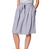 JAZMENIA SKIRT PEBBLE GREY - Thought