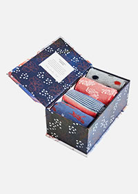 SASHIKO SOCK BOX - Thought