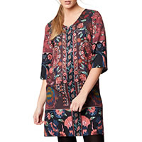 TAPESTRY DRESS AUBERGINE - Thought