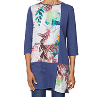 TUNIC FLEURETTE BLEU - Thought