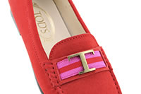 MOCASSINO CITY T RUBAN FLAMME - Tod's
