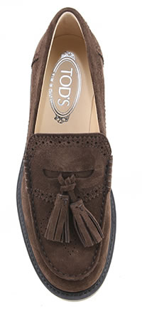 MOCASSINO PUNCHED BROWN - Tod's