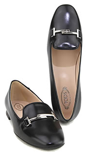 SLIPPER DOUBLE T BLACK - Tod's