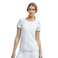 BIANCA TENNIS TEE WHITE - Tonic