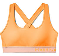ARMOUR MID CROSS BRA ORANGE - Under Armour