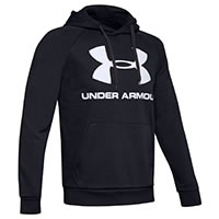 HOODIE RIVAL FLEECE BLACK - Under Armour