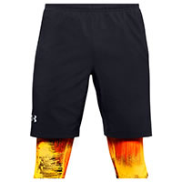 SHORT LAUNCH 2IN1 FIRE GREY - Under Armour