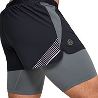 SHORT RUSH 2IN1 BLACK - Under Armour