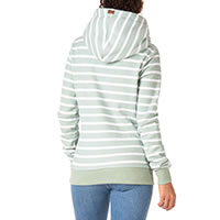 ARTEMIS HOODY GREEN STRIPES - Wanakome