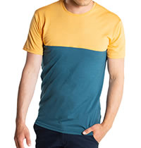 COLORBLOCK TEE YELLOW LAKE - We Norwegians