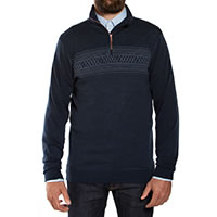 PULL HALF ZIP SETESDAL BLUE - We Norwegians